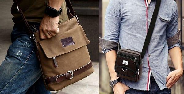 06d563213413 Кожаные мужские сумки через плечо - удобный тренд этого лета! | блог ...