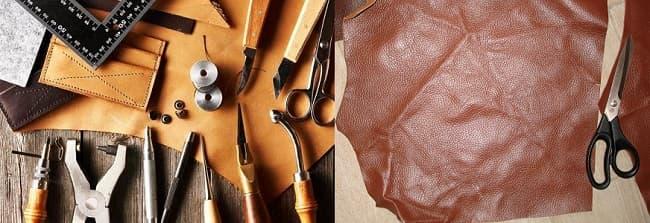 Инструменты для шитья кожаной сумки в домашних условиях