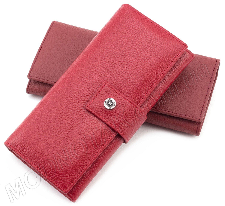 19f967f167b3 Красный женский кошелек на кнопке BOSTON: купить кожаный фирменный ...