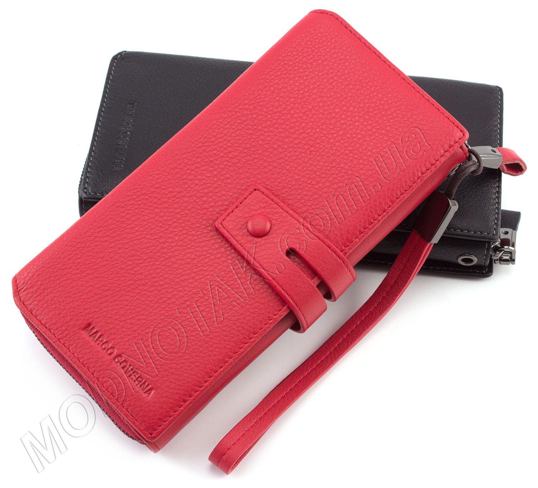 b8b1046e84ab Стильный женский кожаный кошелек красного цвета Marco Coverna (17016)