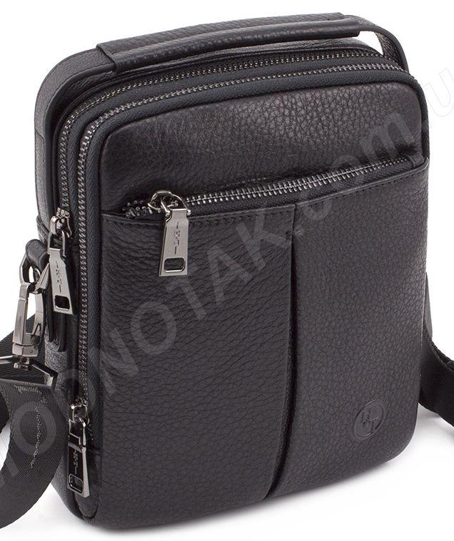 617aa13a5536 Недорогая кожаная мужская сумка небольших размеров HT Leather ...
