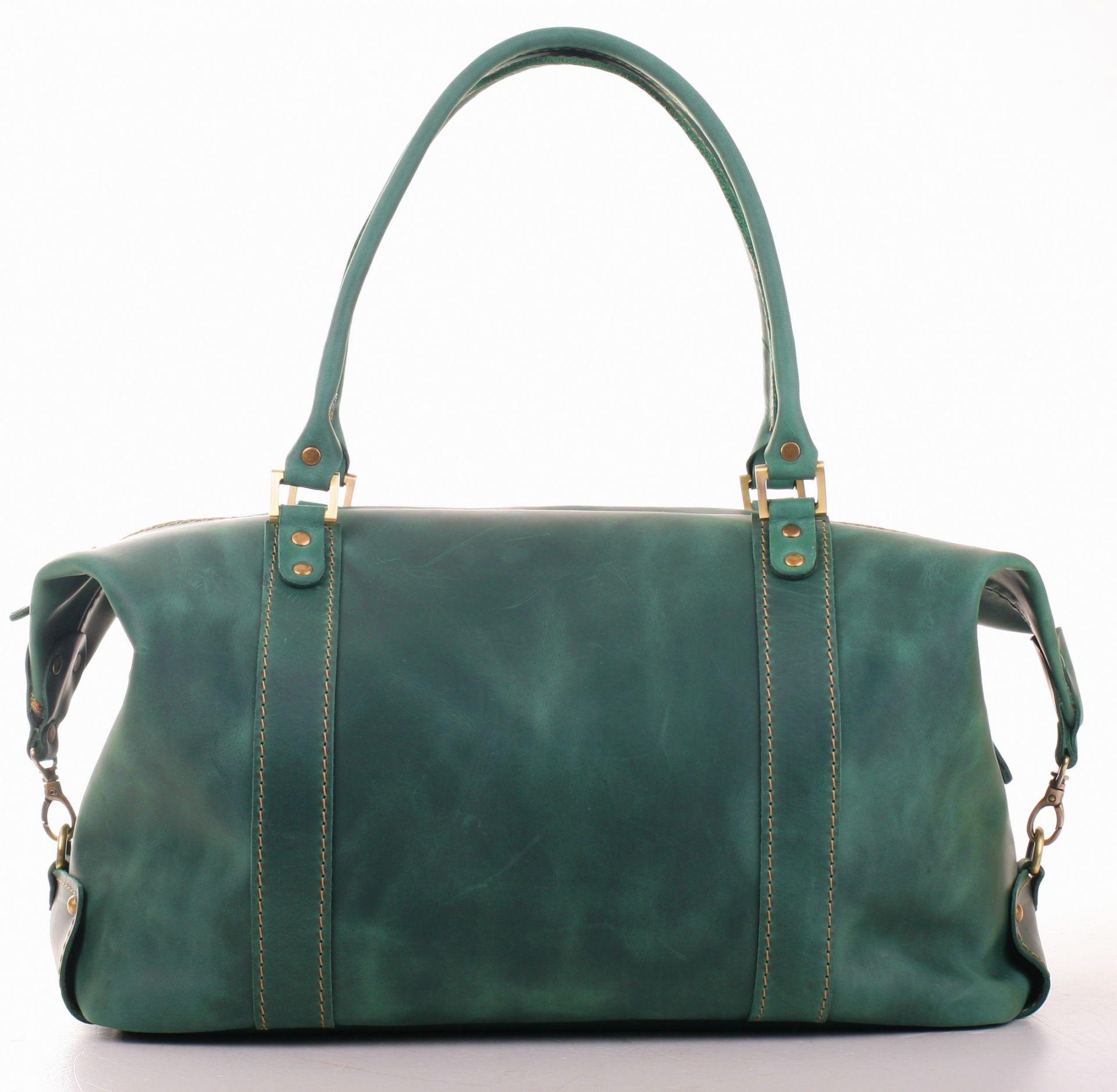1ec2f4f71bf5 Кожаная сумка дорожно-спортивная в винтаж стиле - Travel Leather Bag  (414-8811)