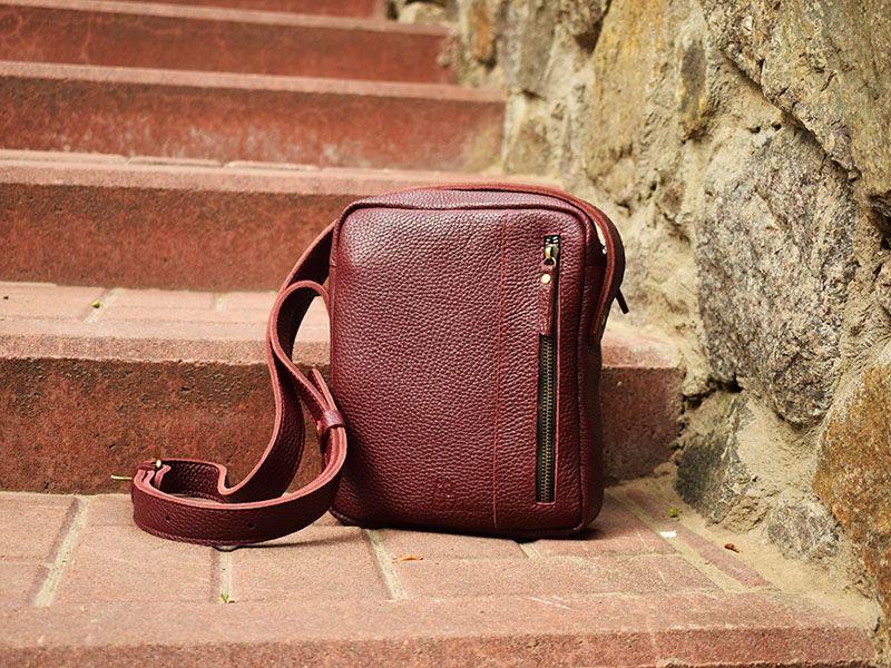 5753608cc62c Кожаная мужская повседневная сумка вертикального типа - мужские ...