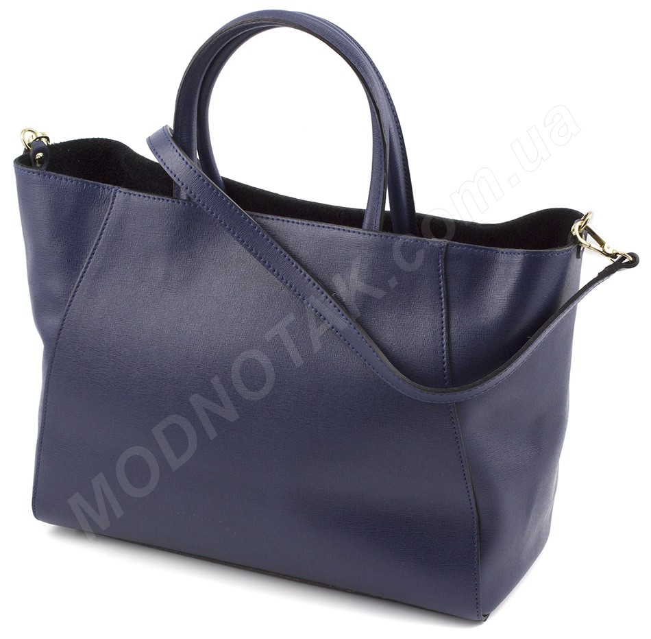 bacce7a3fbfe Итальянская женская кожаная сумка с короткими ручками Italian Genuine  Leather (28014)