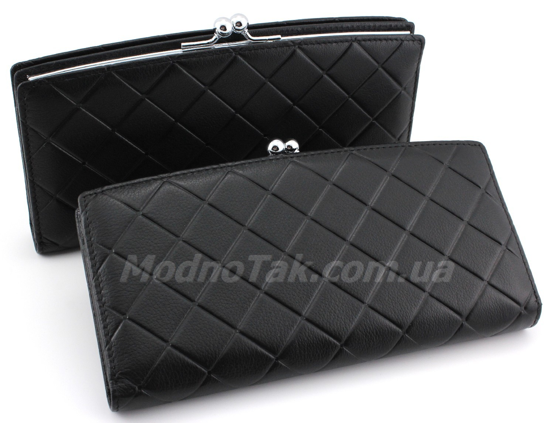a1f83676fa8c Эксклюзивный женский кожаный большой кошелек черного цвета Marco Coverna  (17218)