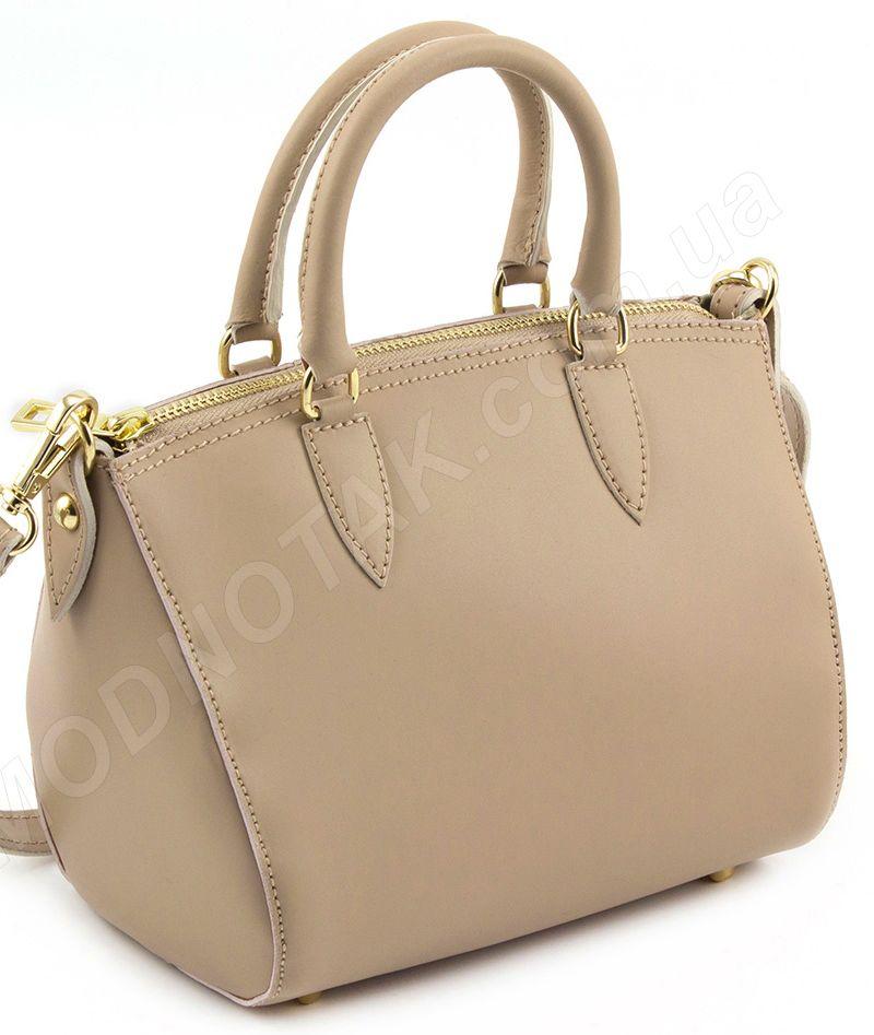 40155042e7b5 Женская маленькая итальянская сумочка ридикюль из натуральной атласной кожи  пастельного тона Italian Genuine Leather (28000