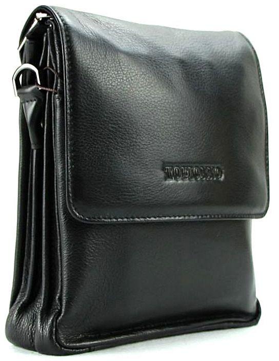 39e712135389 Мужская кожаная сумка небольшого размера с плечевым ремнем TOFIONNO (0-0019)
