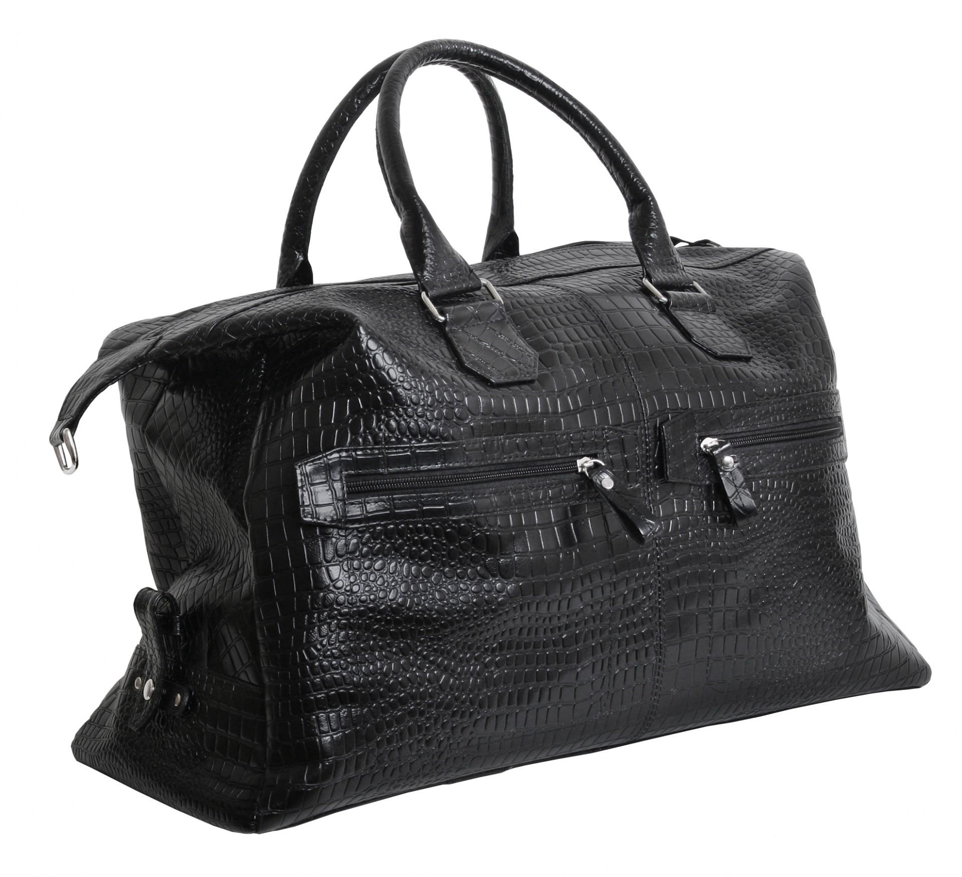 23815f16 Дорожная вместительная кожаная сумка премиум класса VIP COLLECTION (0-2084)