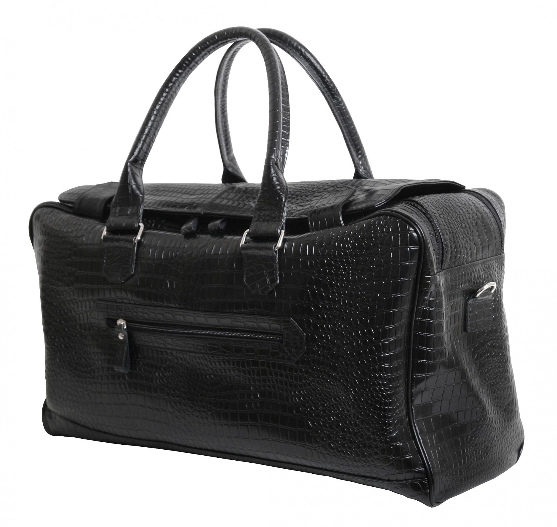 c490fde22962 Кожаная элитная дорожная сумка с фактурой крокодила VIP COLLECTION (0-2085)