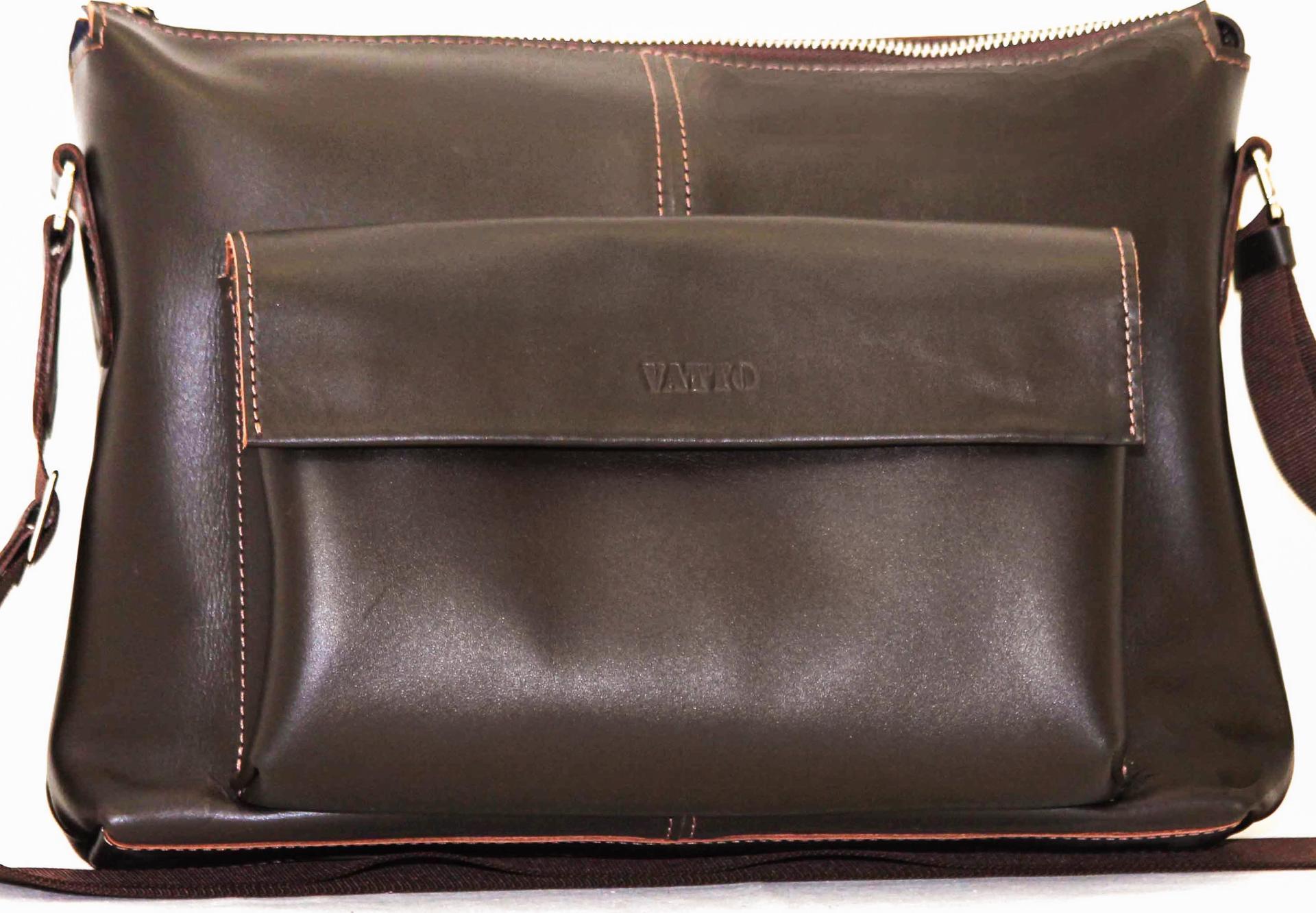 94478a574043 Мужская кожаная сумка коричневого цвета VATTO (11947) купить в Киеве ...
