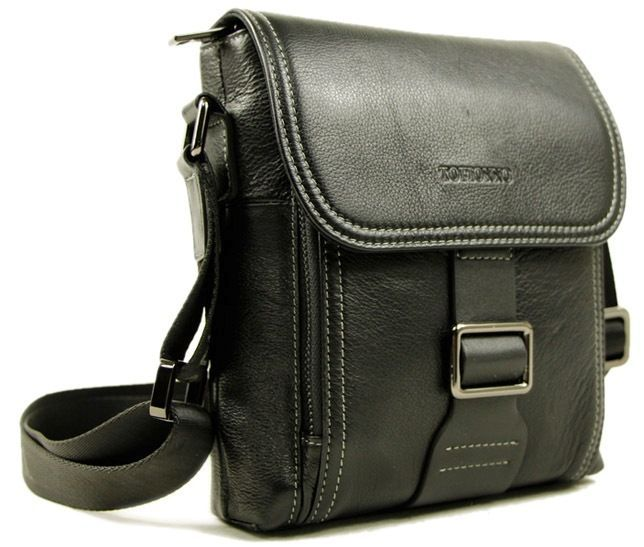 fa70236dd300 Стильная мужская кожаная сумка небольшого размера TOFIONNO (0-0022)