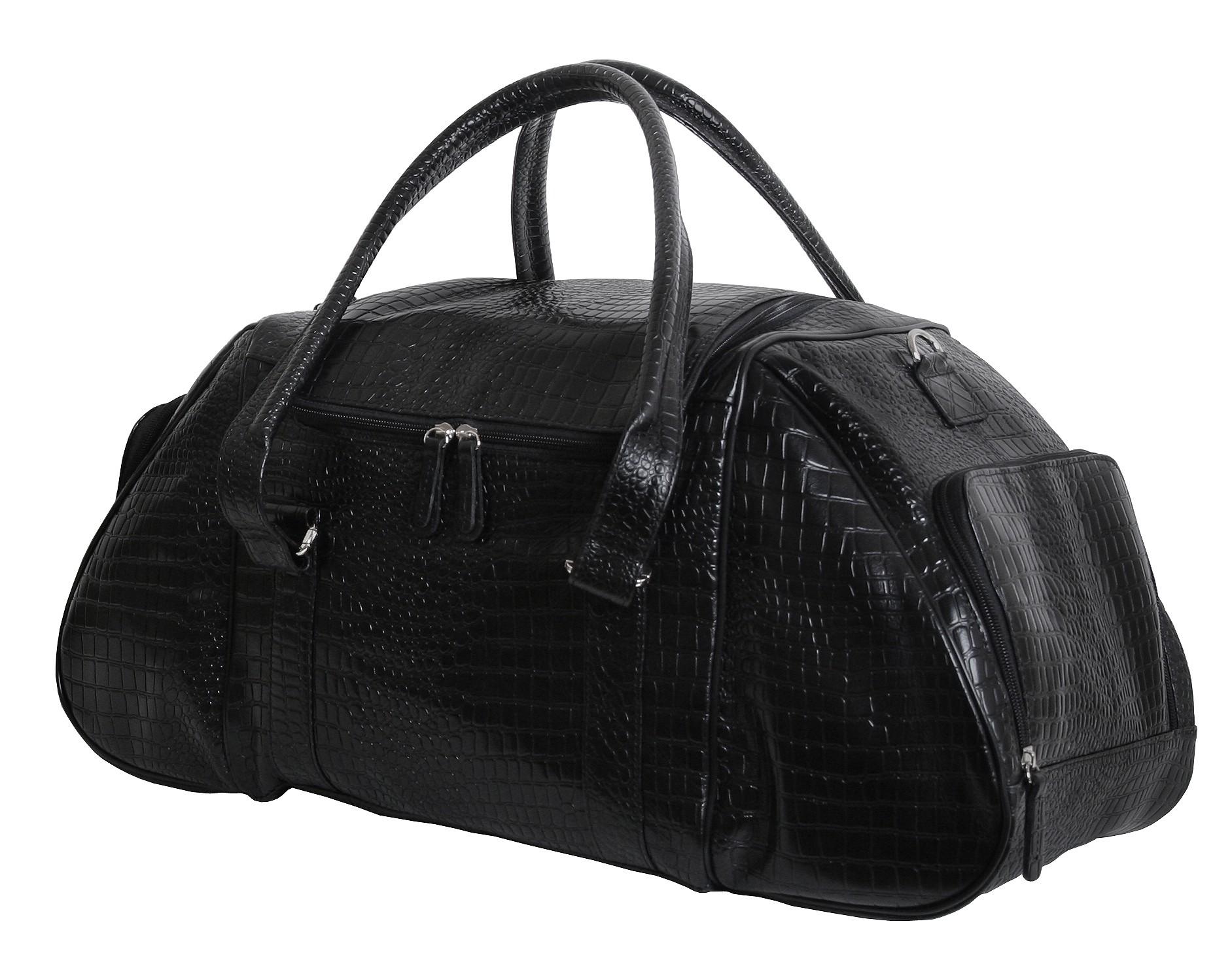 9f7ca1a6ae8d Элитная кожаная дорожно-спортивная сумка с фактурой рептилии VIP COLLECTION  (0-2086)