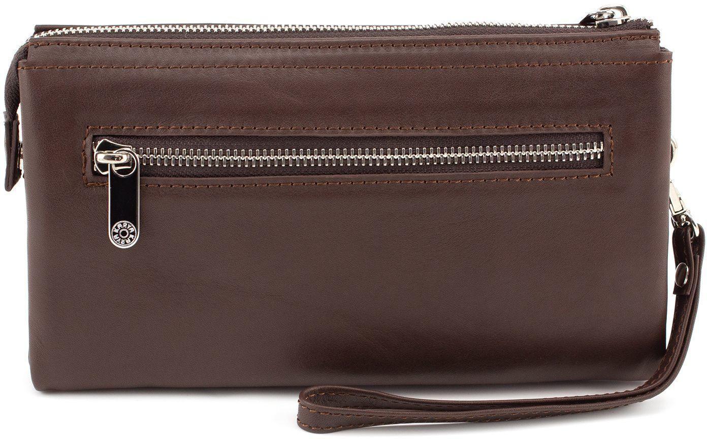 f9af717f0e23 Мужской коричневый клатч из гладкой кожи KARYA (0639-09) купить в ...