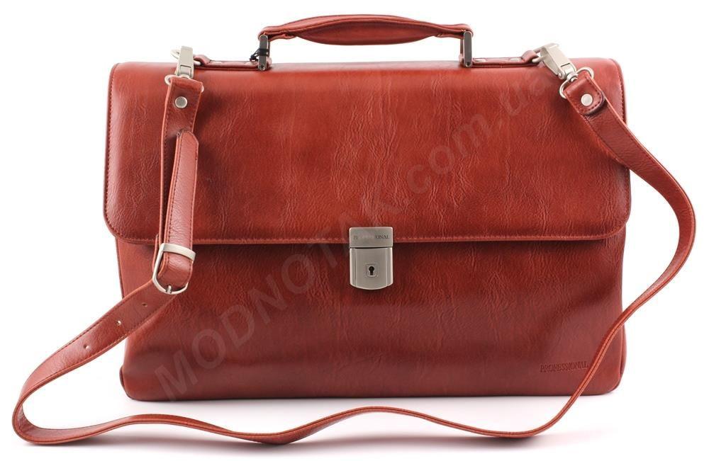 31ac7f7ab538 Портфель деловой в цвете коньяк из высококачественной Эко-кожи -  Professional (821.26)