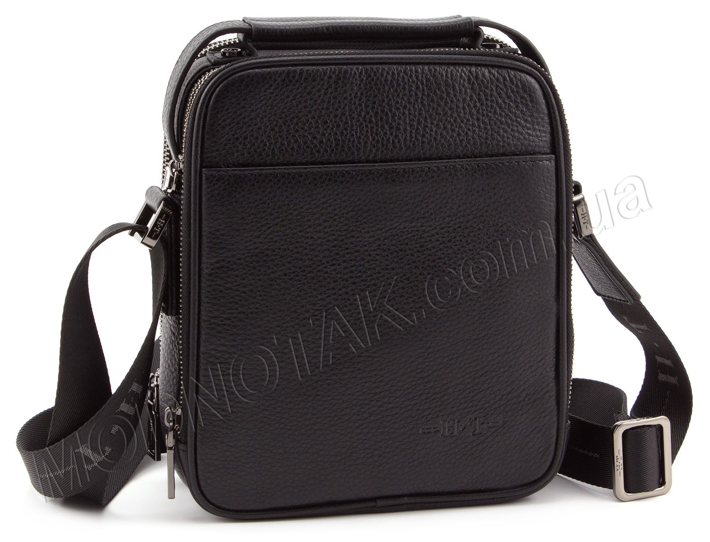 5954492bc901 Кожаная мужская сумка - барсетка с ручкой H.T Leather Collection (10375)