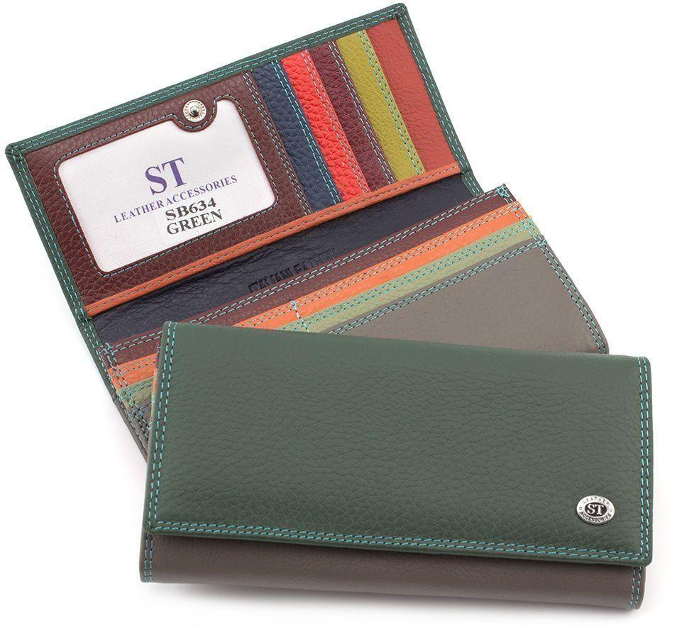 d51cd44abd44 Цветной женский кошелек из натуральной кожи ST Leather (16037 ...