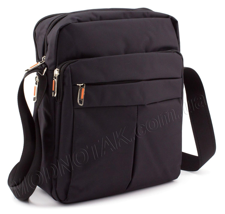 0db74b3053a3 Повседневная вертикальная из текстиля мужская сумка Accessory Bag  Collection (8310A black)