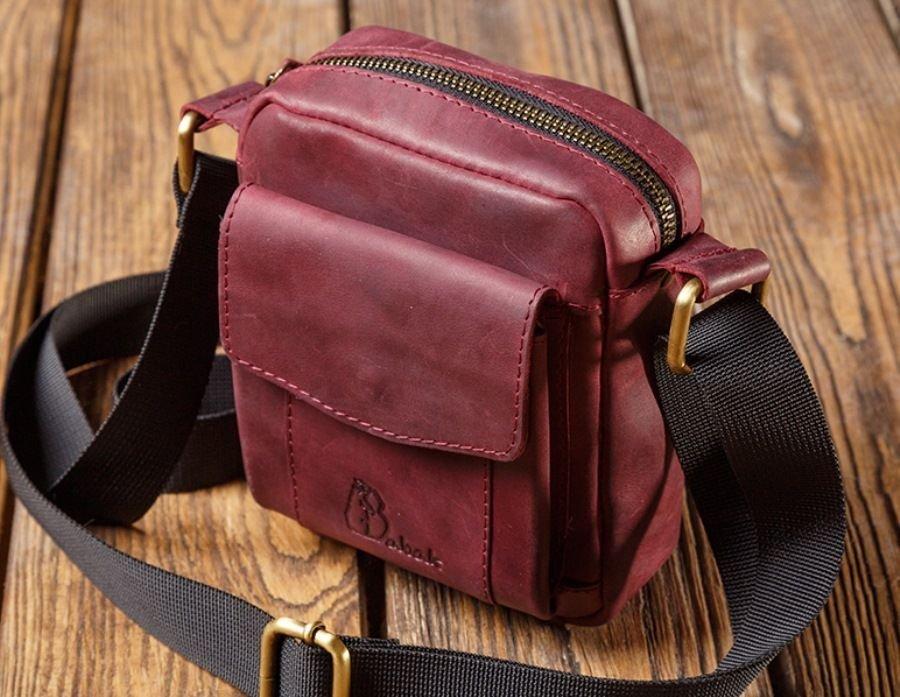 6f4f89d67caa Мужская наплечная сумка из натуральной кожи - кожаные сумки и ...