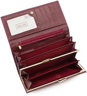 6d4618756e51 ... Женский кожаный кошелек на кнопке цвета марсала BOSTON (16245) - 2