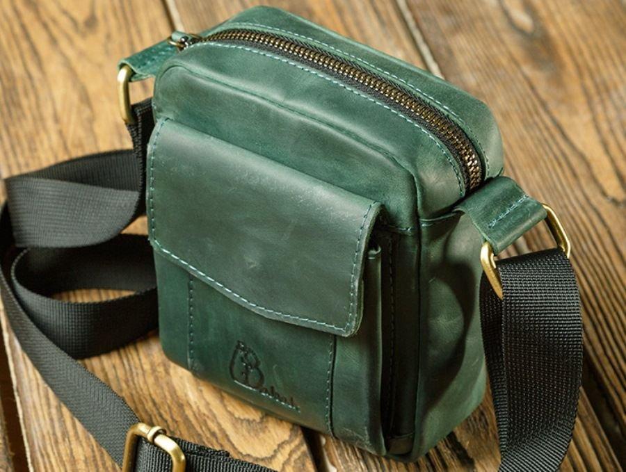 a3659125c8fb Кожаная мужская вертикальная сумка - наплечные сумки для мужчин ...