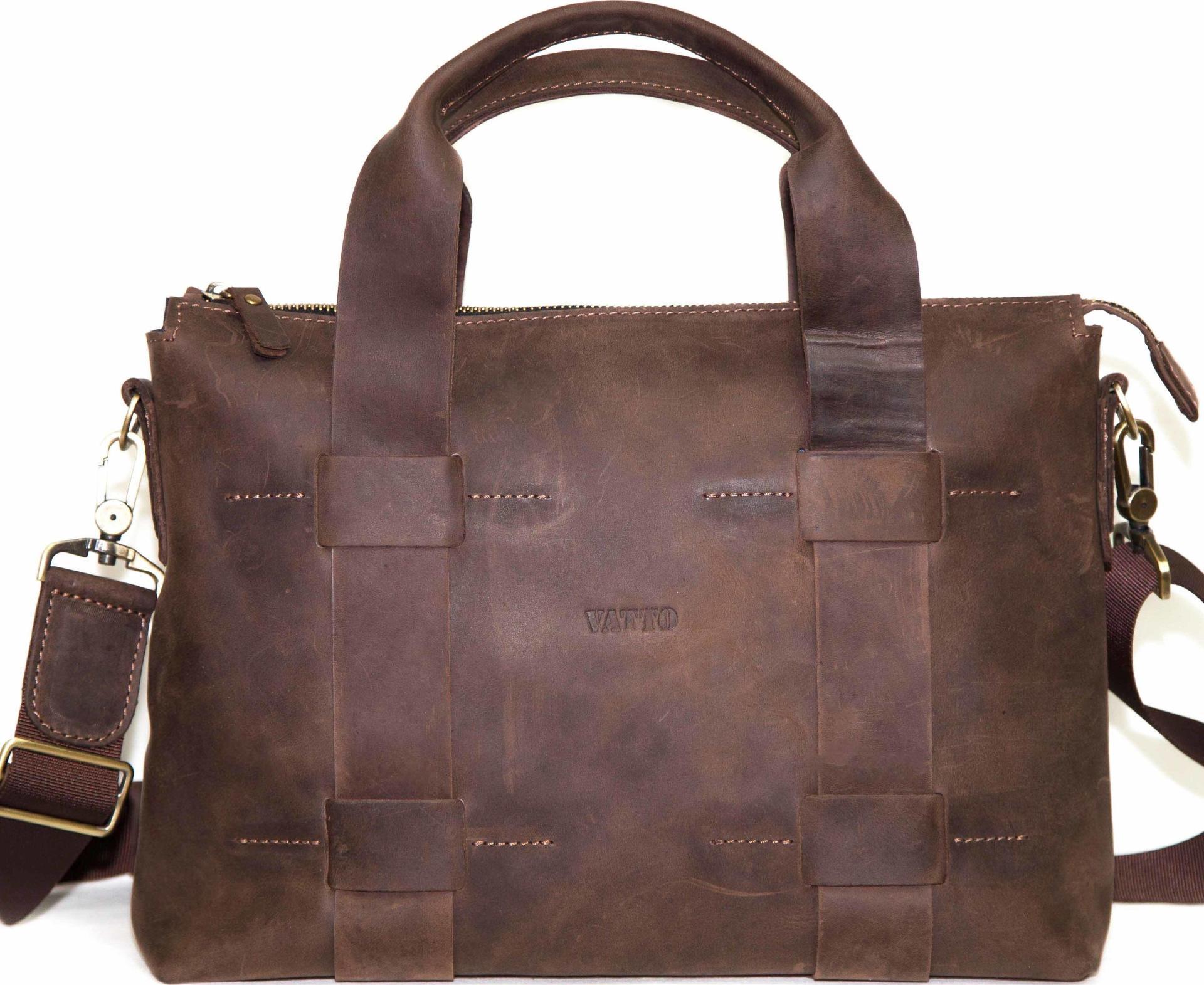 67942db8afef Мужская винтажная сумка из натуральной кожи VATTO (11955) купить в ...