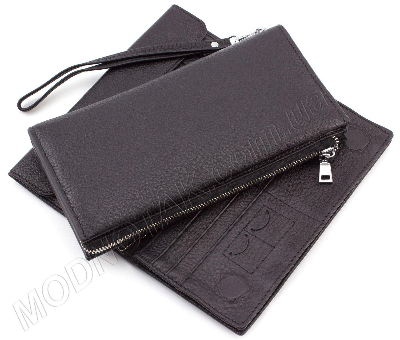 5bf743834221 Небольшой мужской клатч черного цвета Leather Collection: купить ...