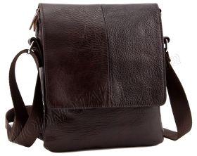 74fe60605926 Коричневая мужская кожаная сумка без логотипов и названий Leather  Collection (10379)