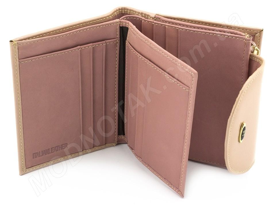 68a9213aa877 Лакированный маленький кожаный женский кошелек красивого пудрового цвета ST  Leather (17491)