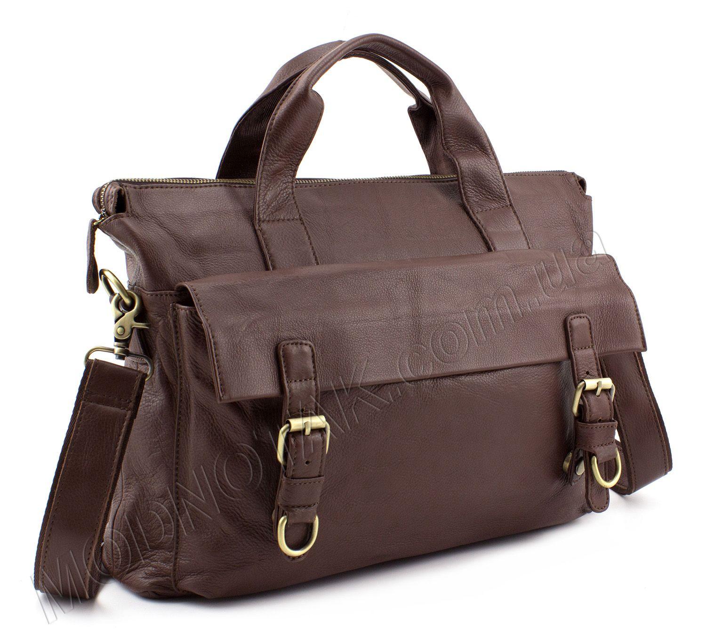 Купить кожаную мужскую сумку-почтальонку для документов формата А4 в ... 59ef9282bef6b