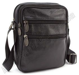 40641952604d Мужская недорогая кожаная сумка с наплечным ремнем - Leather Collection  (10392)