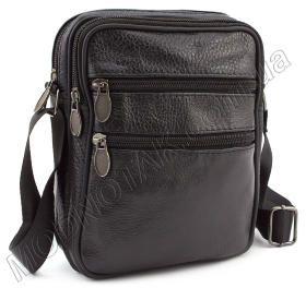3ab90e199e33 Мужская недорогая кожаная сумка с наплечным ремнем - Leather Collection  (10392)