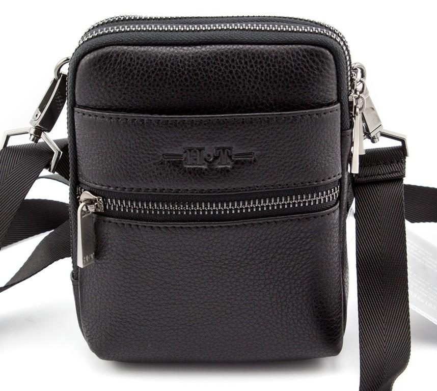 ... Кожаная маленькая мужская сумка c возможностью носить на плече или на  поясе H.T Leather (10001 ... d9e878a7dd1