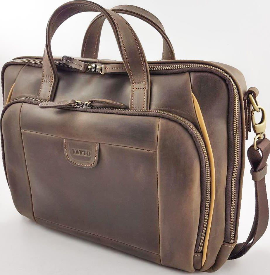 75b0c50b7703 Кожаная мужская сумка для документов с ручками VATTO (11861) купить ...