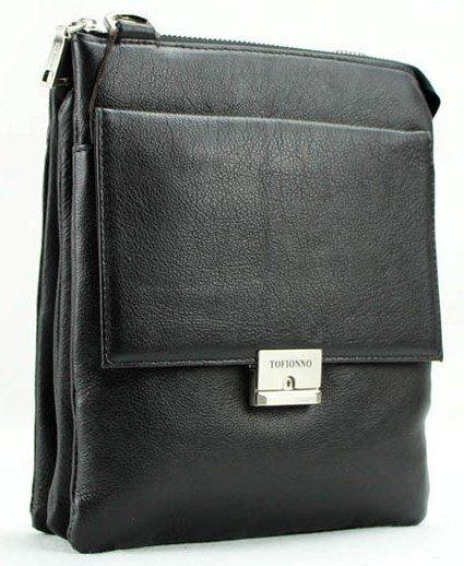 4447c7b537ac Мужская деловая повседневная кожаная сумка небольшого размера TOFIONNO  (0-0034)
