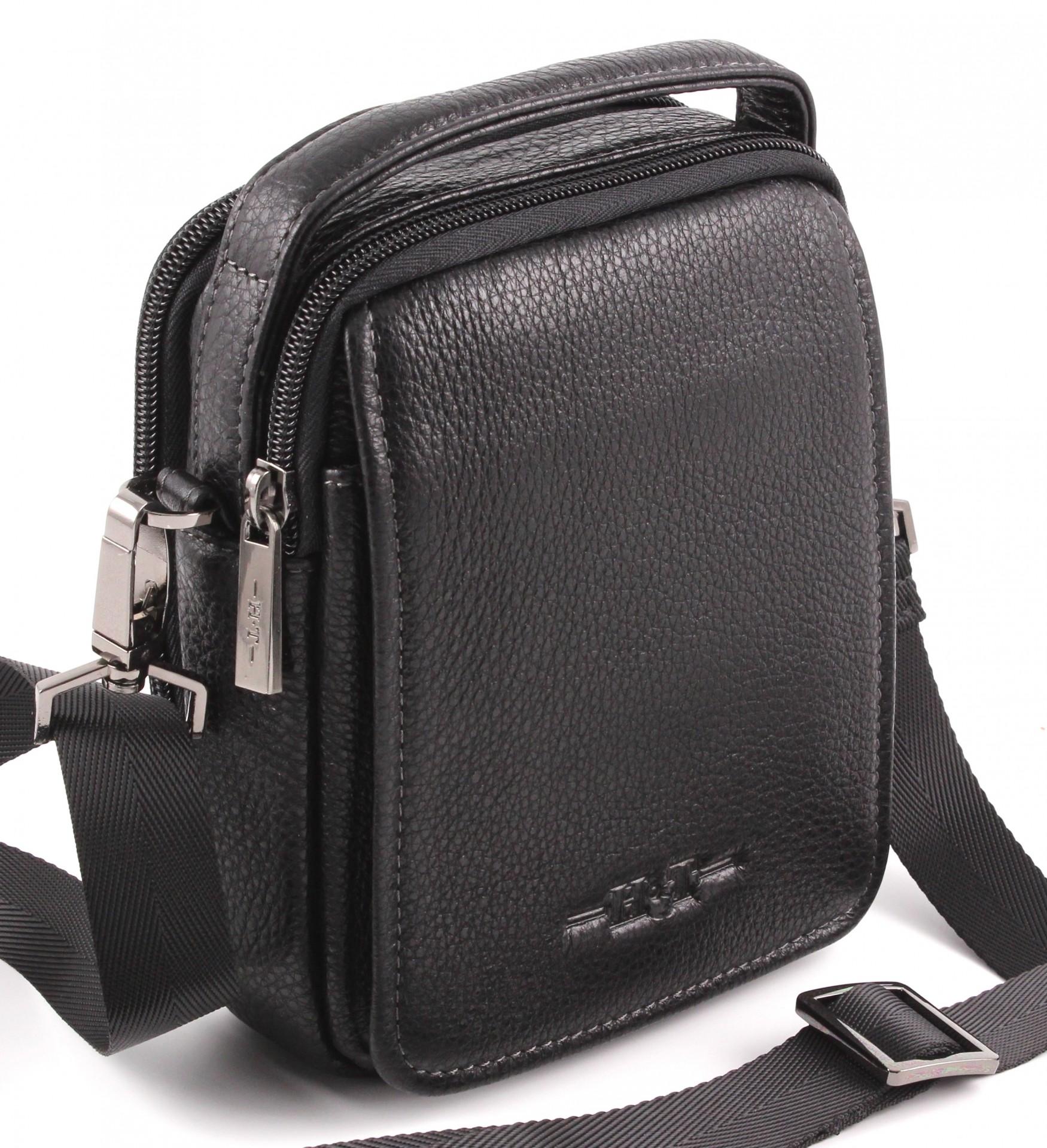 a823898529e2 Маленькая мужская поясная сумочка из натуральной кожи H.T Leather (10004)