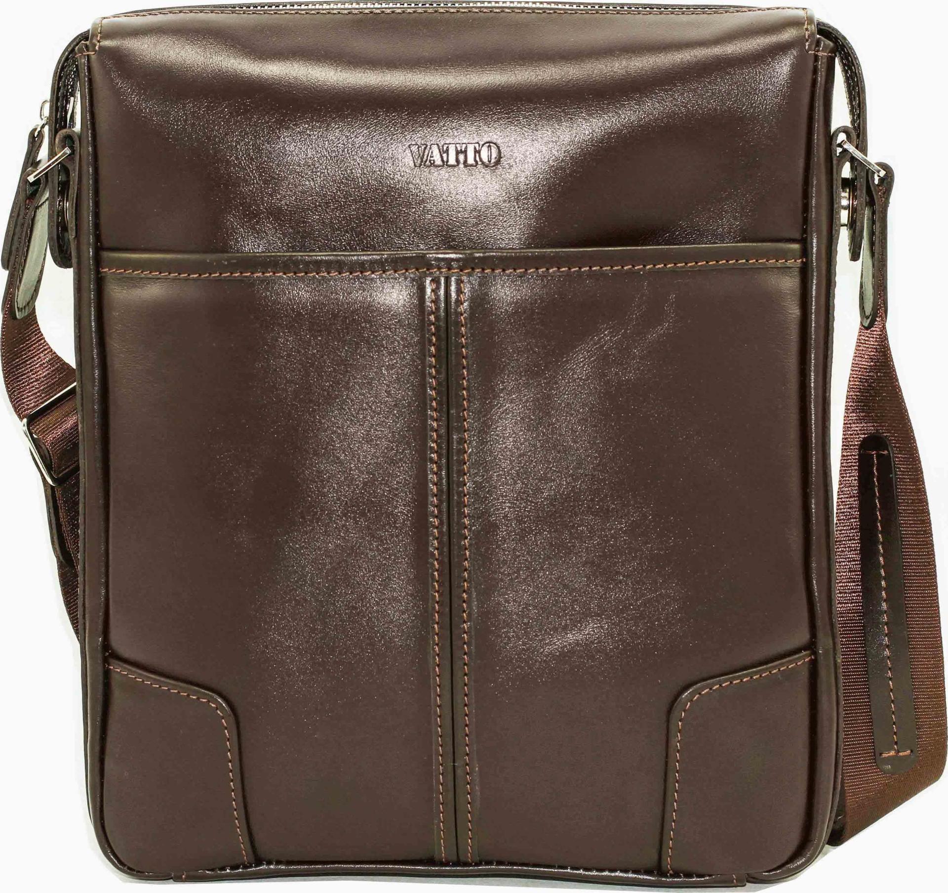 e13af90d39f0 Мужская коричневая сумка из гладкой кожи VATTO (11865) купить в ...