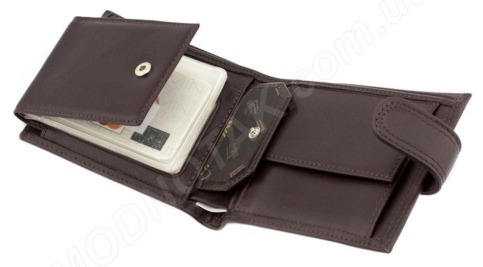 fa97c5316949 Коричневое кожаное мужское портмоне с визитницей EMINSA (Турция) (18163)