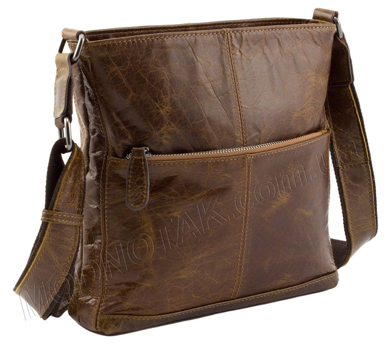 eb07a9b61dcf Винтажная мужская сумка из натуральной кожи Leather Collection (9017 brown)