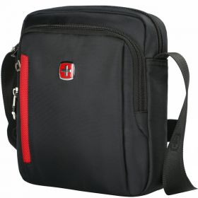 dcc496759c2e Оригинальная мужская сумка с красной вставкой на плечо SCOGOLF (Swissgear)  (5100)