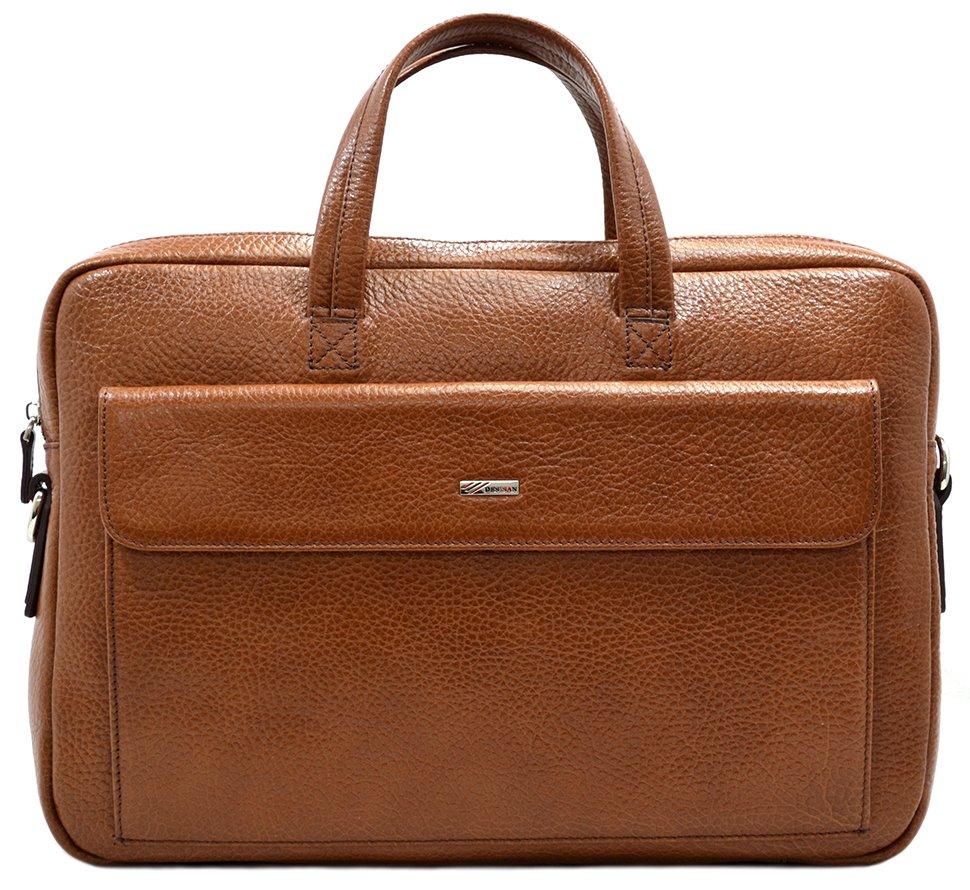 a6cc217f9f1d Молодежная кожаная сумка для ноутбука из натуральной кожи - DESISAN (11562)