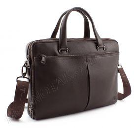 27c4e3a6a157 Деловая кожаная сумка коричневого цвета для документов H.T Leather Premium  Collection (10233)