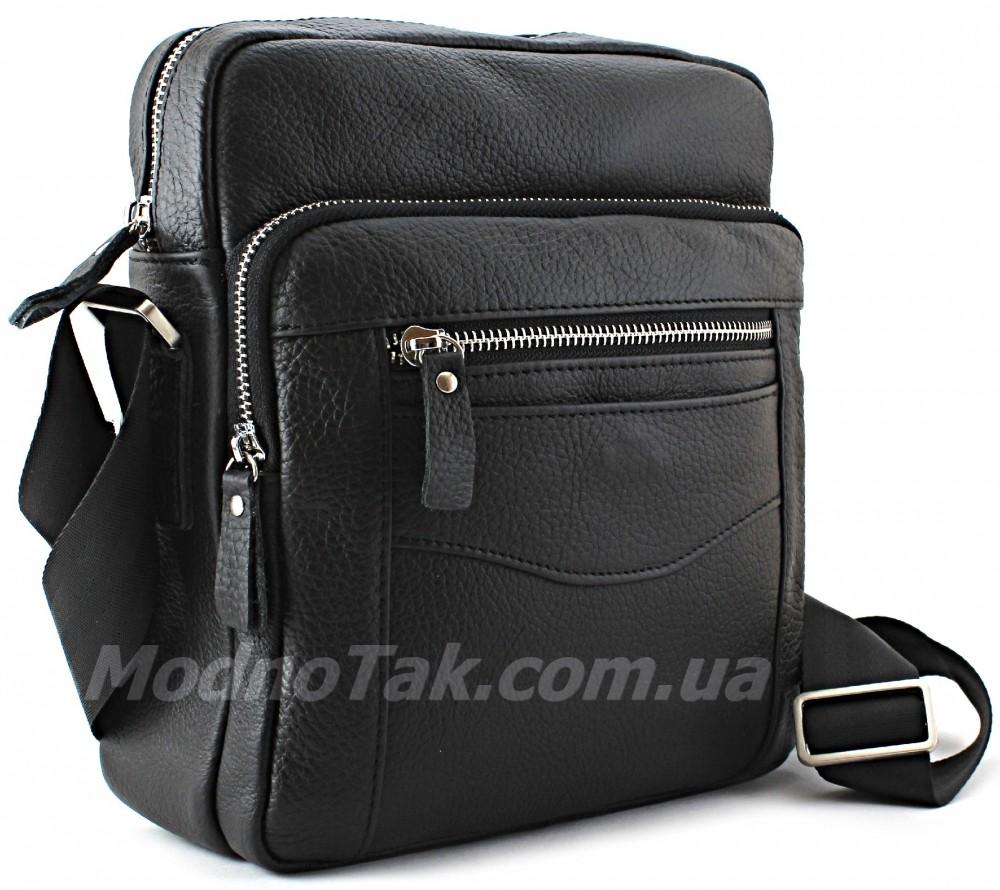 6fbe24816d07 Повседневная мужская кожаная сумка через плечо Leather Bag Collection  (10139)