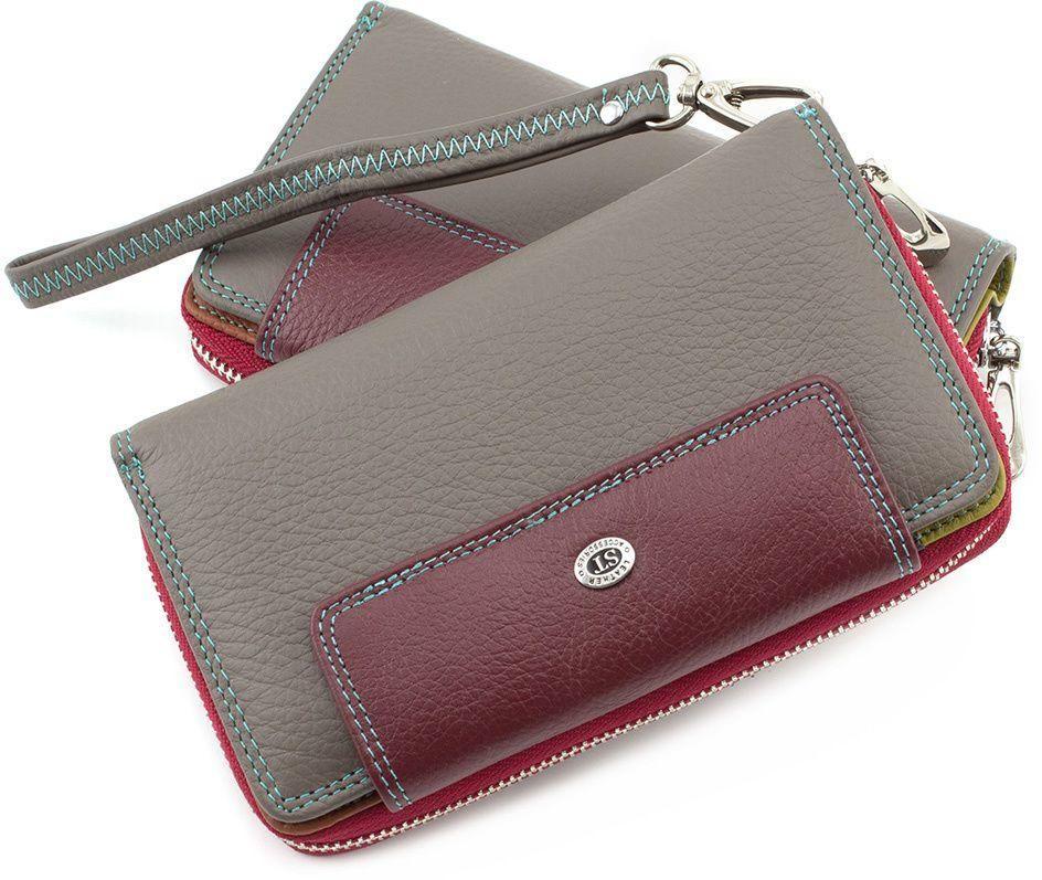 48996f7e4ea8 Женский оригинальный кошелек с отделением на кнопке ST Leather (16044)
