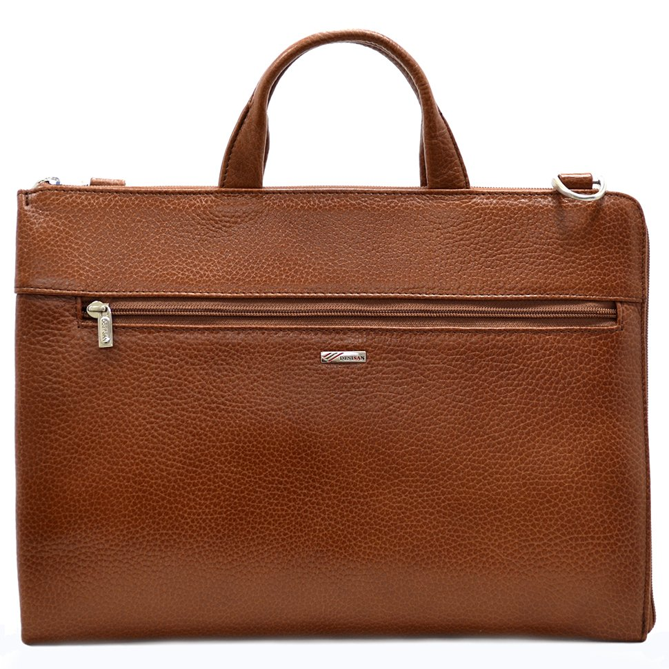 0f8f661ba4f5 Деловая коричневая сумка из натуральной кожи турецкого качества - DESISAN  (11567)