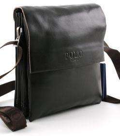 c9540a0bb283 Купить. Мужская наплечная повседневная сумка из эко-кожи от POLO Classic  Collection (10236)