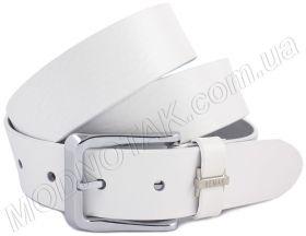 Белый кожаный мужской ремень REMAR (40706) db3cccc0d2589