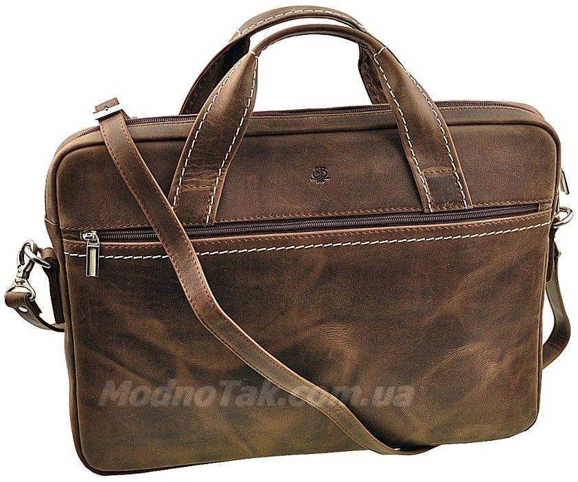 415d5f92d726 Кожаная сумка для документов или ноутбука до 15.6 дюймов в винтажном стиле  (645151)