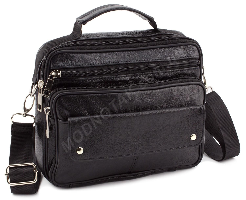 a21043b4c112 Кожаная недорогая сумка средних размеров с ручкой Leather Collection (10354)