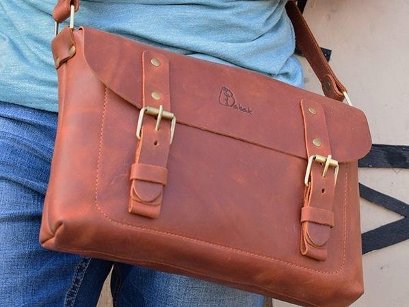 e175ad91f8de Премиум класса кожаная мужская сумка в итальянском винтажном стиле ...