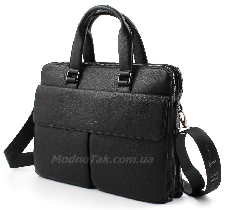86057dc7ebec Деловая кожаная сумка под документы А4 и ноутбук H.T Leather Collection  (10200)
